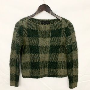 Rag & Bone Green Plaid Cammie Crewneck Sweater